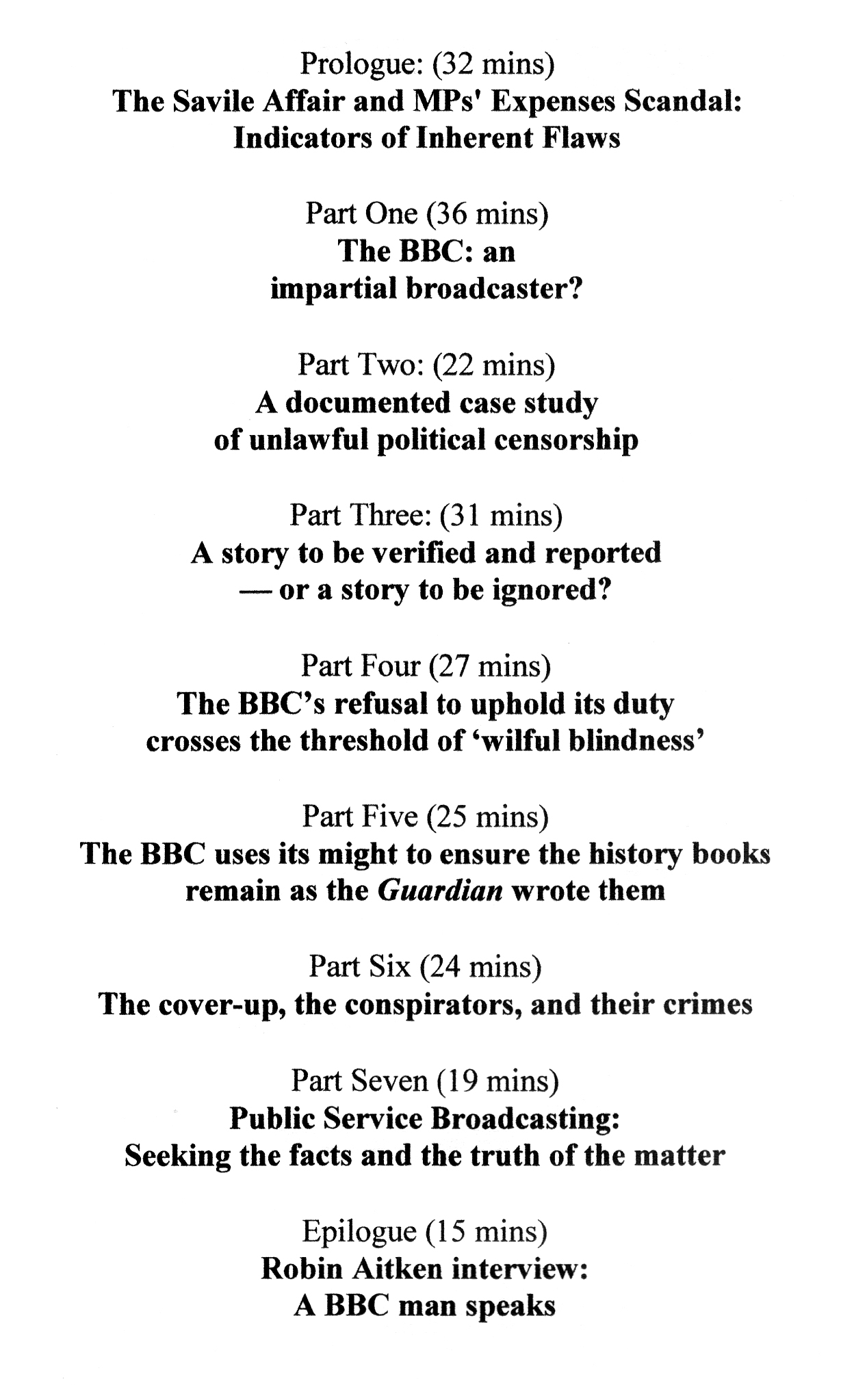 The Case Against The Bbc Can Be Purchase For £5, Including Postage And  Packing